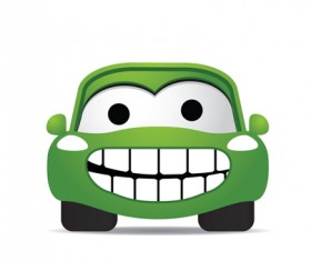 Funny Color Cartoon cars vector 04