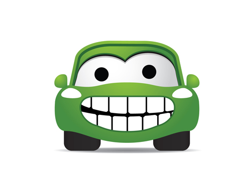 Funny Color Cartoon Cars Vector 04 Free Download