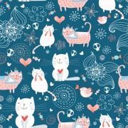 Link toFunny cat pattern vector 01