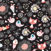 Link toFunny cat pattern vector 02