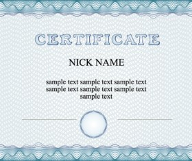 Commonly Certificate cover vector template 01
