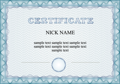 Commonly Certificate Cover Vector Template 01 Free Download