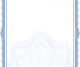 Commonly Certificate cover vector template 02