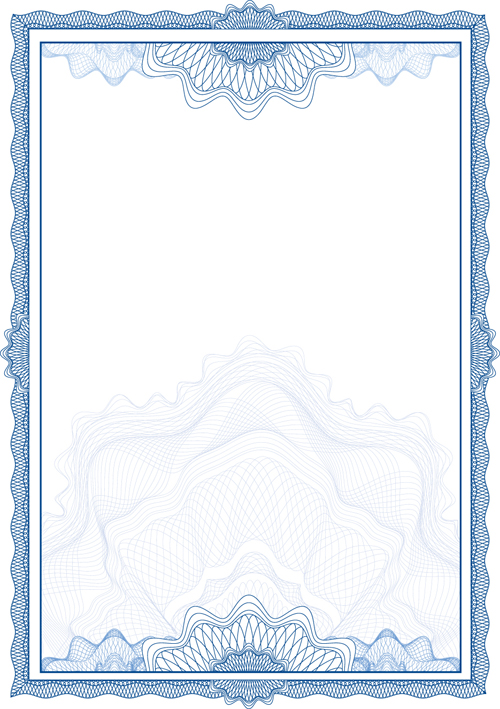 commonly certificate cover vector template 02 free download