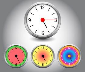 Different Clock design vector 02