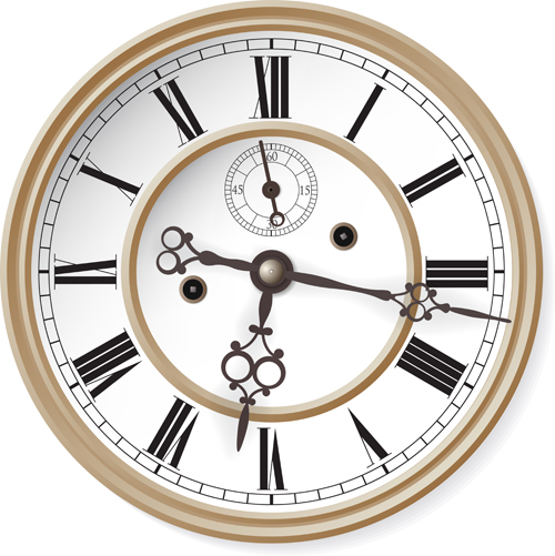 Different Clock Design Vector 05 Vector Other Free Download