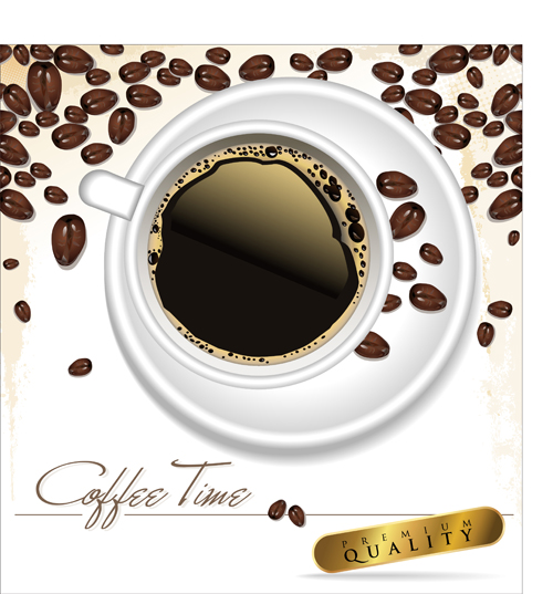 Coffee time design vector 03