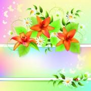 Link toVector of color spring flower backgrounds 01