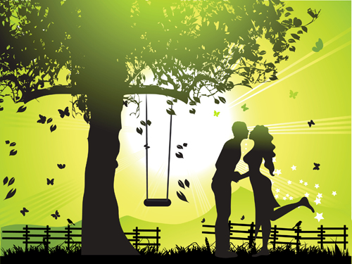 Couples vector material 05