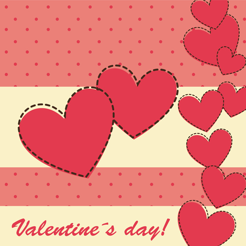 Cute Valentine Day Card Vector