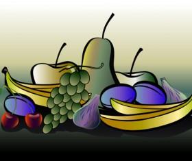 Different Fresh fruit vector graphics