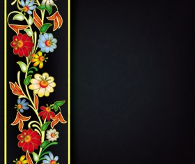 Floral Ornaments vector backgrounds 02