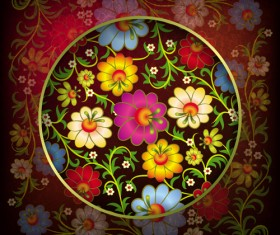 Floral Ornaments vector backgrounds 03