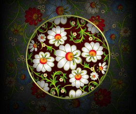 Floral Ornaments vector backgrounds 05