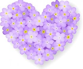 Vector Flowers heart design elements 02
