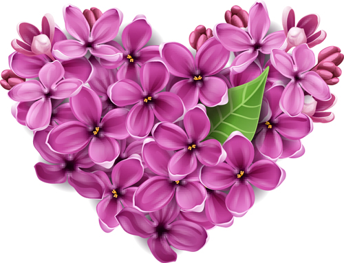 vector flowers heart design elements   vector flower, vector, Beautiful flower