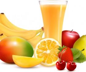 Fresh Fruits design vector set 04