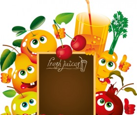Fruit and Drinks vector background
