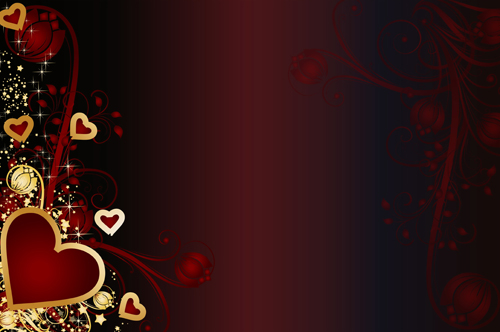 Free Backgrounds Hearts Golden Hearts Valentine Vector