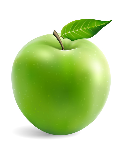 Green apple vector material