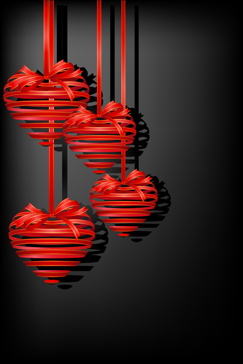 different heart background art vector 02
