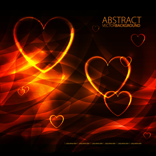 Different heart background art vector 04