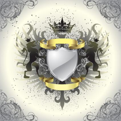 vintage royal labels design vector graphics 01 free download
