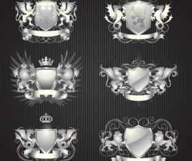 Vintage Royal labels design vector graphics 02