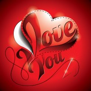 Link toI love you heart card vector 01