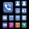 Set of aqua style icon vector 01