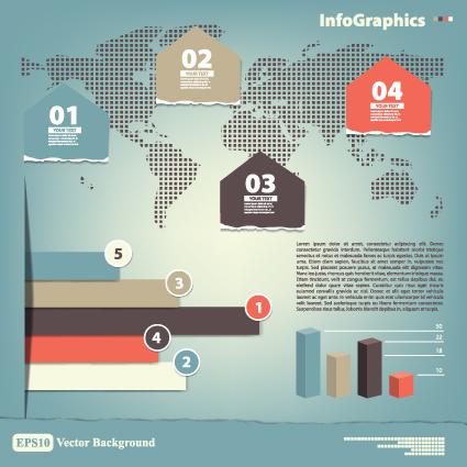Vector Business Infographic design elements 05 - Vector Business ...