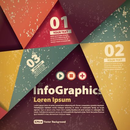 Numbered Infographic design vector 01