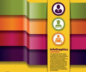 Numbered Infographic design vector 03