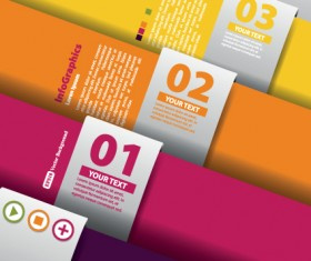 Numbered Infographic design vector 05