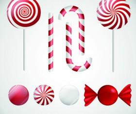 Lollipop design elements vector