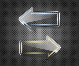 Creative Metal arrow design elements vector 01