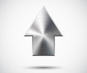 Creative Metal arrow design elements vector 02