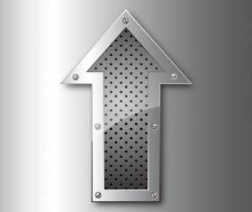 Creative Metal arrow design elements vector 03