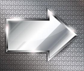 Creative Metal arrow design elements vector 04