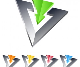 Creative Metal arrow design elements vector 05