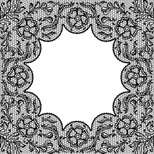 Vector Old lace background art 01