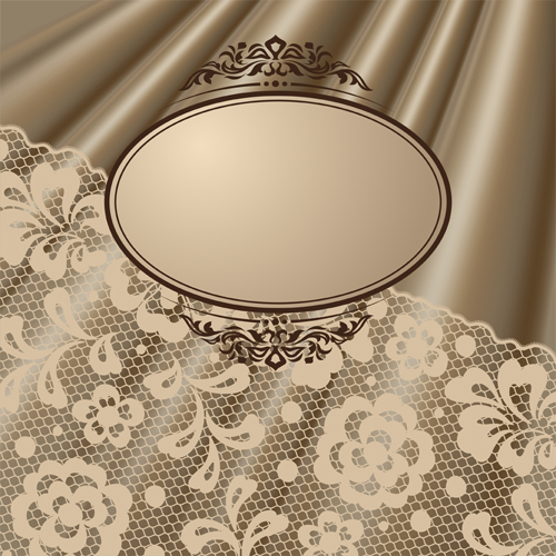 Vector Old lace background art 05