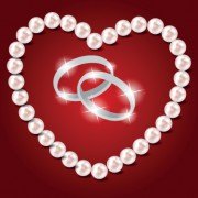 Link toPearl heart and wedding rings vector 01