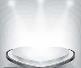 Podium showcase with light design vector 03