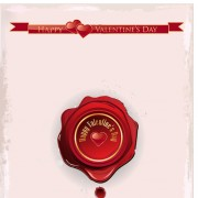 Link toRed wax seal cards vector 02