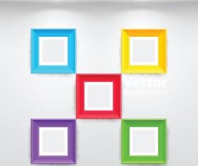 Set of Gallery lighting vector graphic 01