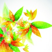 Link toShiny color leaves vector background