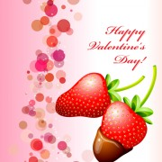 Strawberries and chocolate valentine day background vector