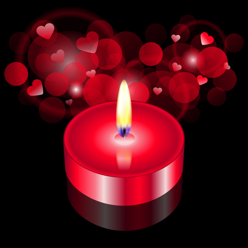 Valentine Candle background vector
