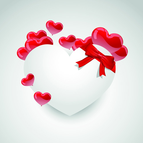 Valentine Day Hearts Elements Vector 02 Free Download